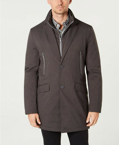 $395 Tommy Hilfiger Men's Modern-Fit Robert Raincoat Coat 38S Grey NEW