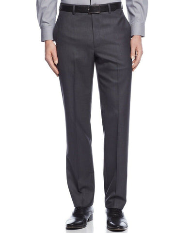 $95 Calvin Klein Slim-Fit Solid Dress Pants 36 x 34 Charcoal Grey