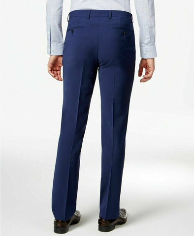 $175 Bar III Skinny Fit Stretch Wrinkle-Resistant Dress Pants 32 x 32 Blue