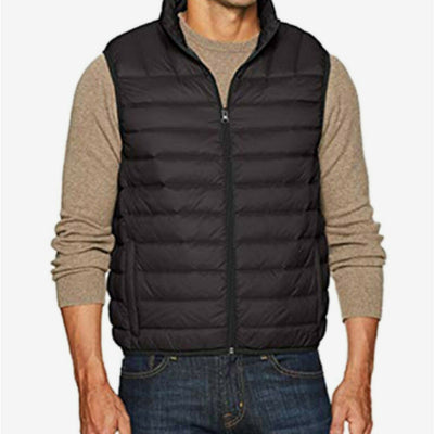 $125 Hawke & Co. Outfitter Men's Packable Down Puffer Vest Small Black NEW