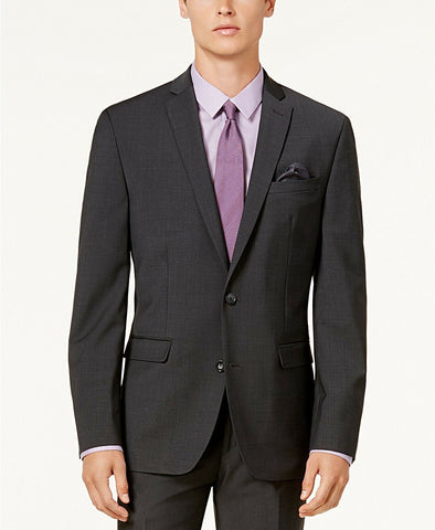 $650 Bar III Men's Slim-Fit Active Stretch Suit 42S / 36 x 30 Charcoal Grey