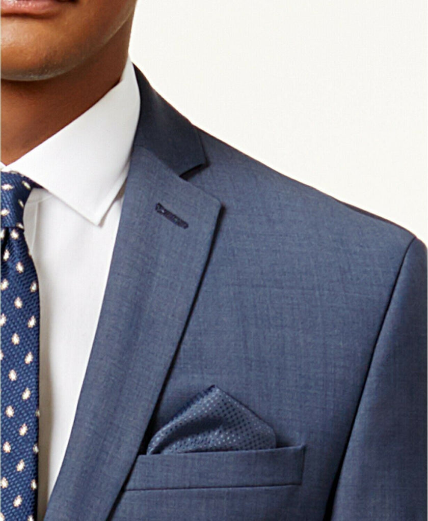 $425 Bar III Men's Slim-Fit Active Stretch Suit Jacket 42S Blue Sport Coat