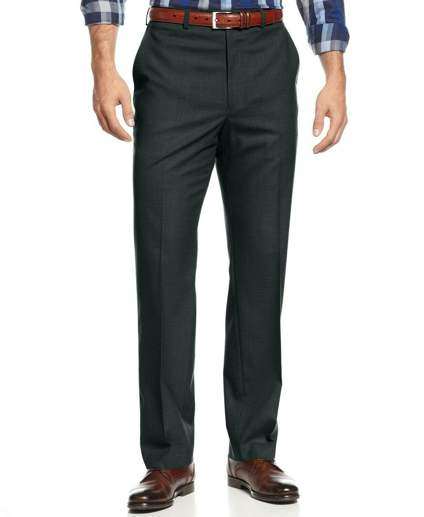 $95 Michael Kors Classic-Fit Stretch Dress Pants 32 x 32 Charcoal Grey WASHABLE