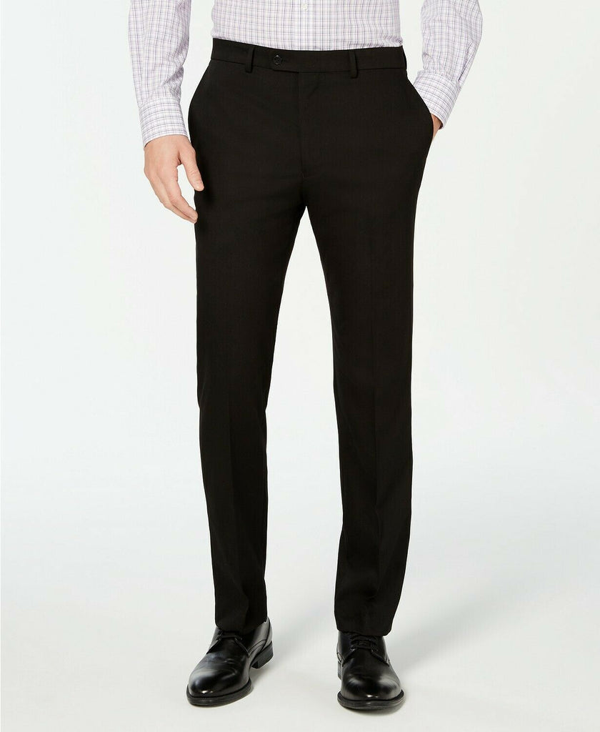 $650 Vince Camuto Slim-Fit Stretch Wrinkle-Resistant Black Suit 42S / 34 x 30