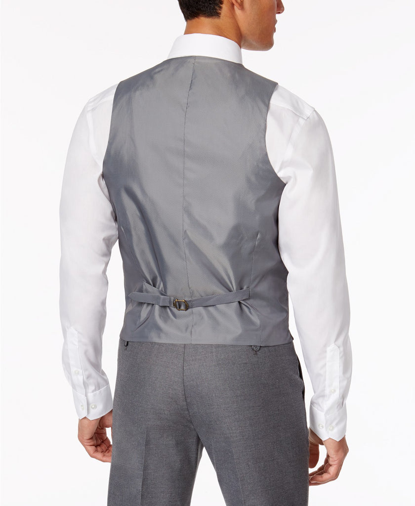 $125 Alfani Men's Stretch Performance Solid Slim-Fit Vest Medium Grey