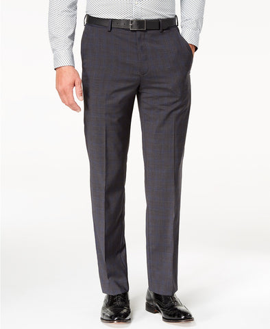 $175 Michael Kors Classic-Fit Airsoft Stretch Dress Pants 44 x 32 Charcoal Blue