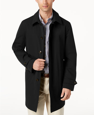 $350 Lauren Ralph Lauren Men's Stanza Classic-Fit Raincoat Coat 46R Black