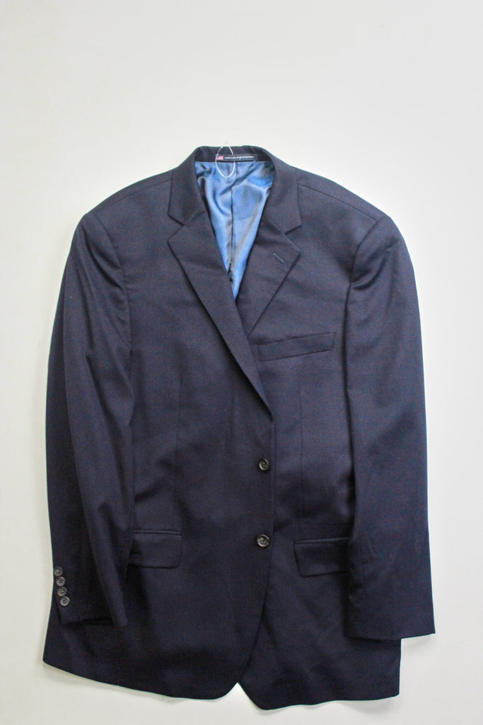 $695 Hart Schaffner Marx New York Classic Fit Wool Suit Jacket 44R Jacket ONLY
