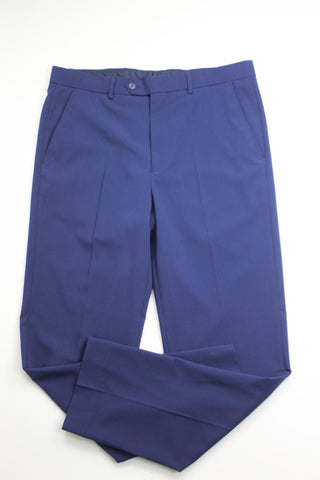 $495 Nautica Solid Modern-Fit Suit 40R / 34 x 32 Navy Blue Flat Pant