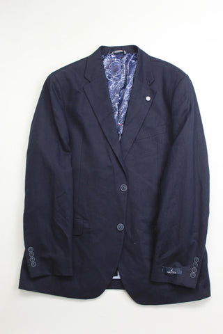 $275 Nautica Men's Modern-Fit Active Stretch Solid Sport Coat 42S Navy blue
