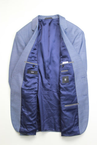$495 Hugo Boss James Slim Fiot Blue Birdseye Sport Coat 44R Light Blue