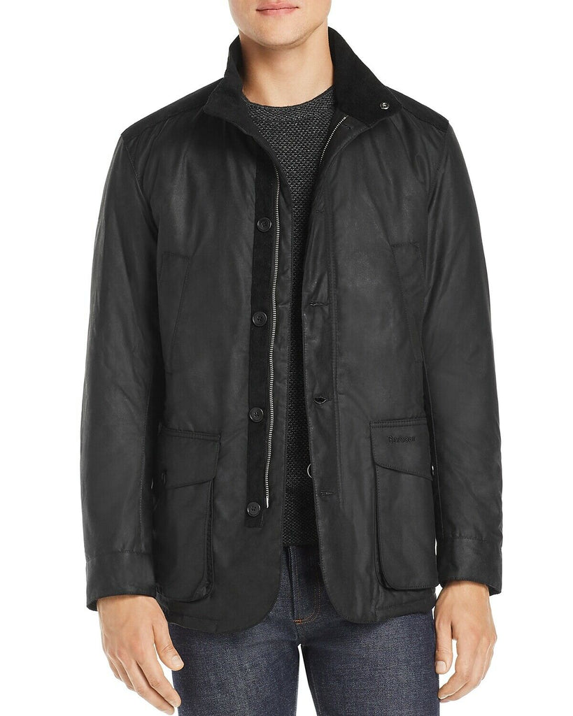 $450 Barbour Kyle Men's Water Resistant Waxed Jacket Small Black