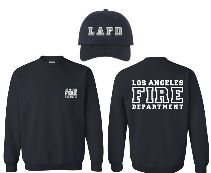 LAFD Crew Neck & Cap Bundle