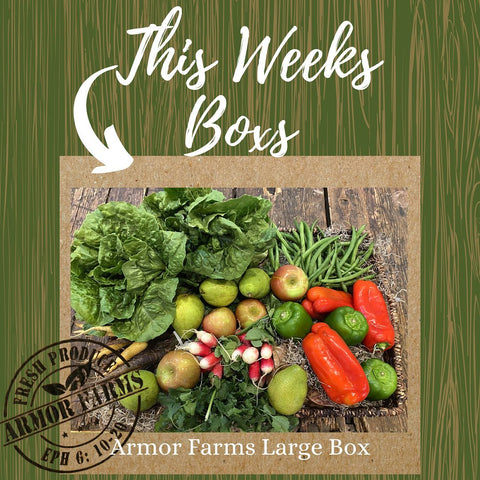 January 29th box with apples, pears, peppers and radish