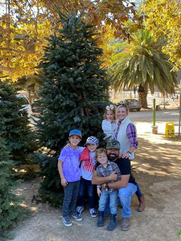 Bernard family picking out their Christmas tree