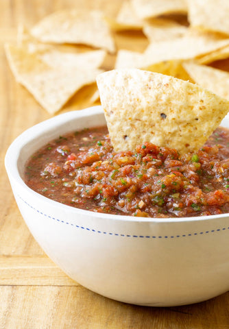 Ready to eat delicious homemade salsa