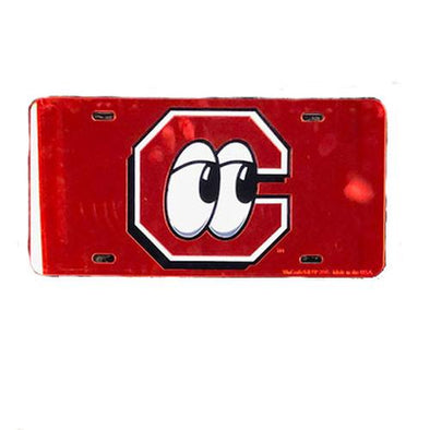 Chattanooga Lookouts License Plate C Logo w/ Eyes