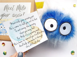 Milo The Anxiety Pet ♡ - Anxiety , Mental Health Gift - Little Happy Thoughts