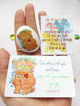 Load image into Gallery viewer, Teddy Bear Hug -Wallet Card And Stone Gift Set - Little Happy Thoughts