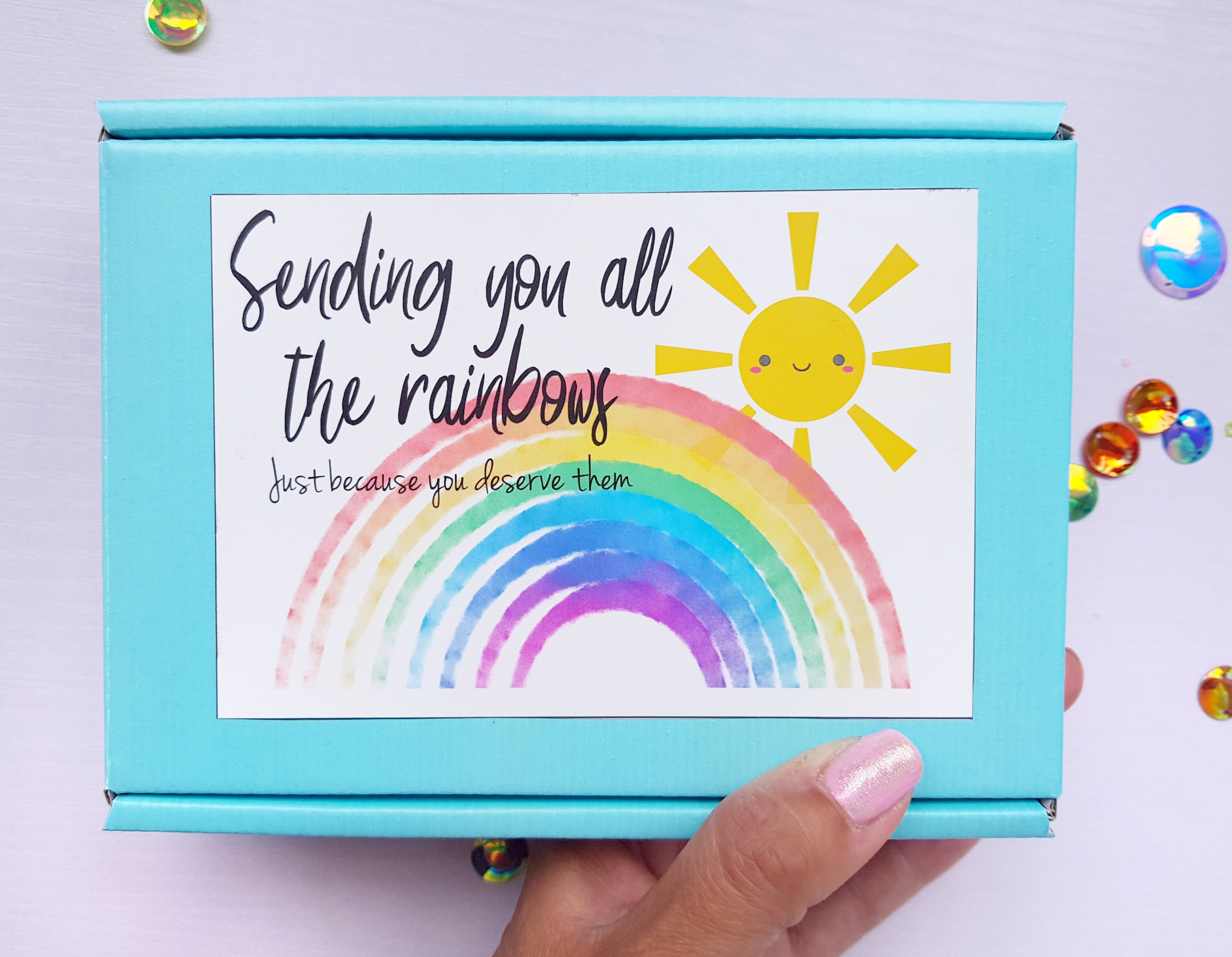 Sending You All The Rainbows - Letterbox Gift - Little Happy Thoughts