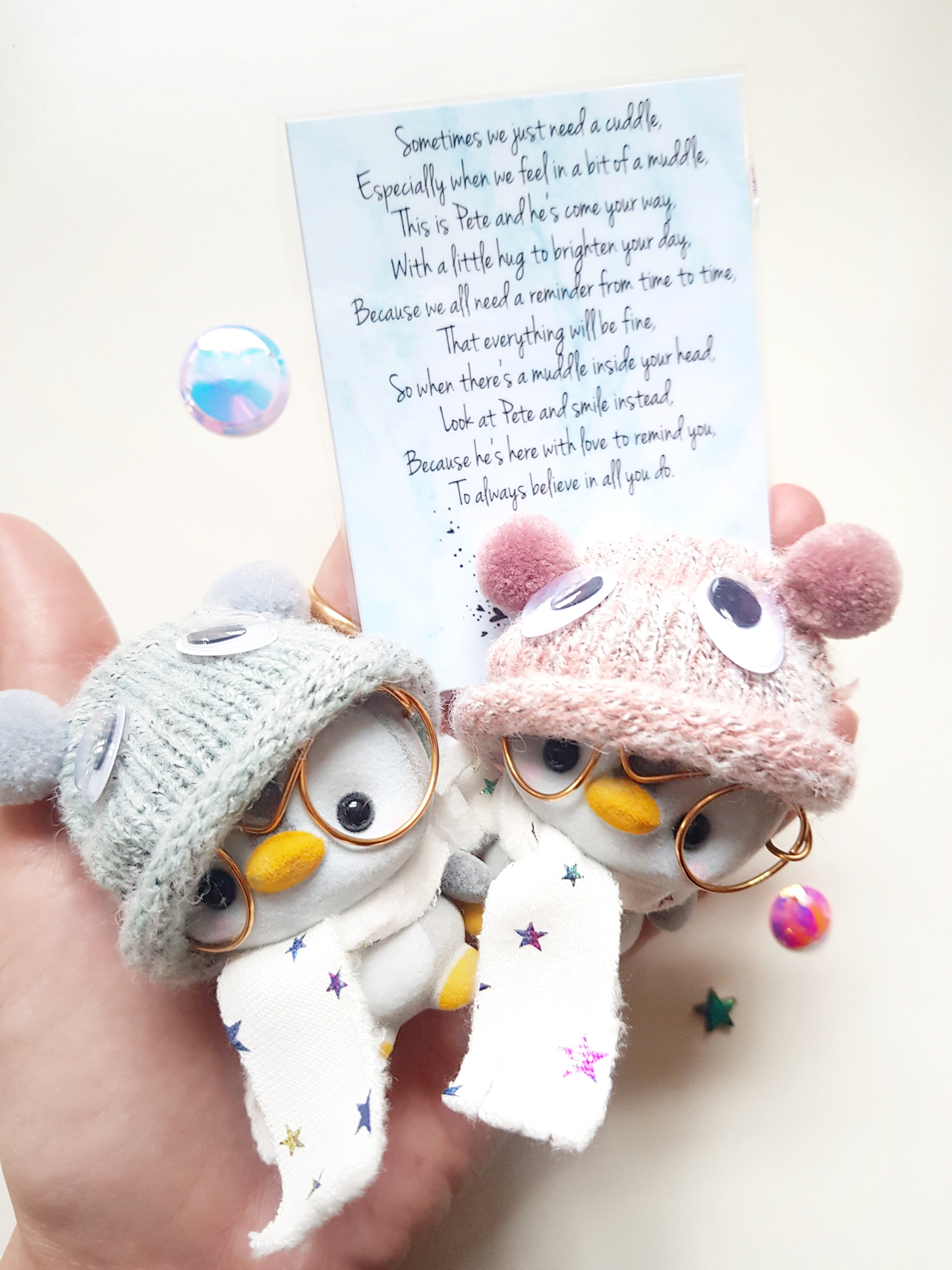 LIMITED EDITION - Pete The Penguin Goggly Eyes Bobble Hat!- Believe In You! - Little Happy Thoughts