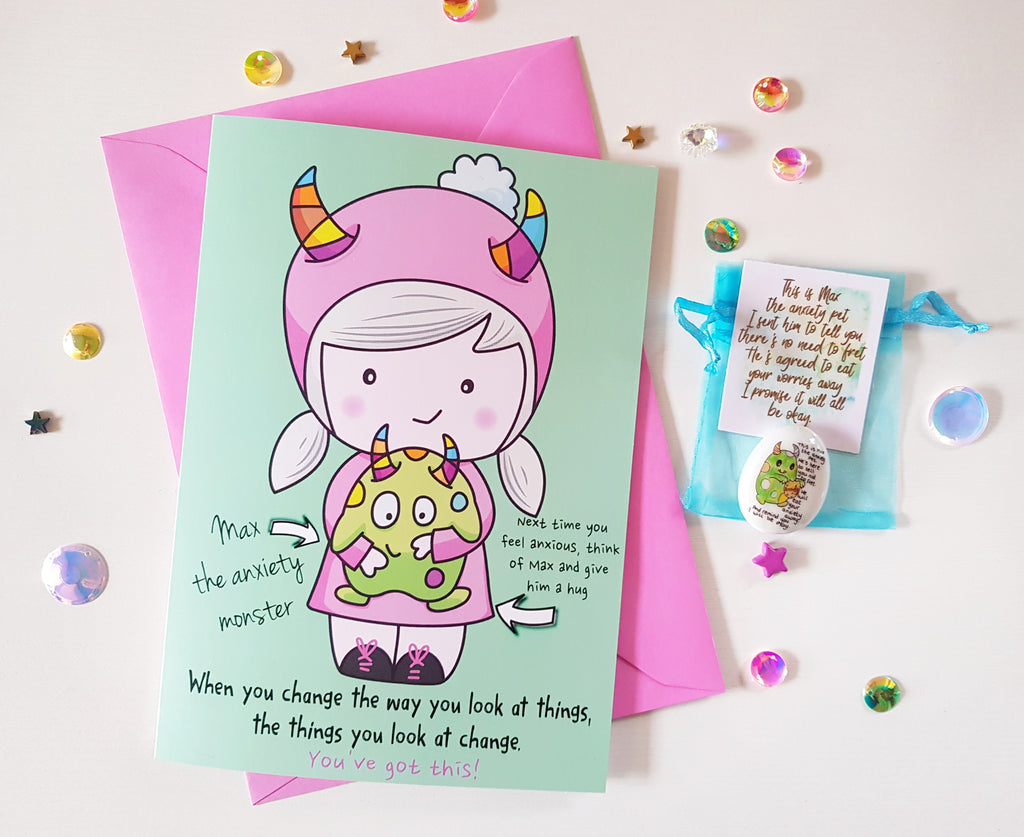 Things Aren't Always As Scary As They Seem - Card Gift Set 💕💛💚 - Little Happy Thoughts