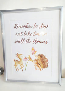 Take Time To Smell The Flowers - Self Care Gift - Little Happy Thoughts