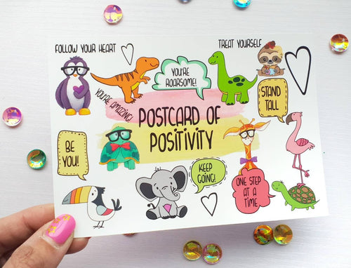 Postcard Of Postitivity - Little Happy Thoughts