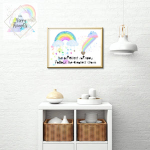 Print Your Own - Brightest Rainbows A4 Print (Digital Download) - Little Happy Thoughts