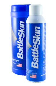 """Battleskin"" Antiseptic Spray and Wipes..."