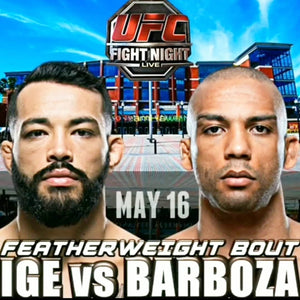 UFC FIGHT NIGHT HAWAII'S DAN IGE VS EDSON BARBOZA