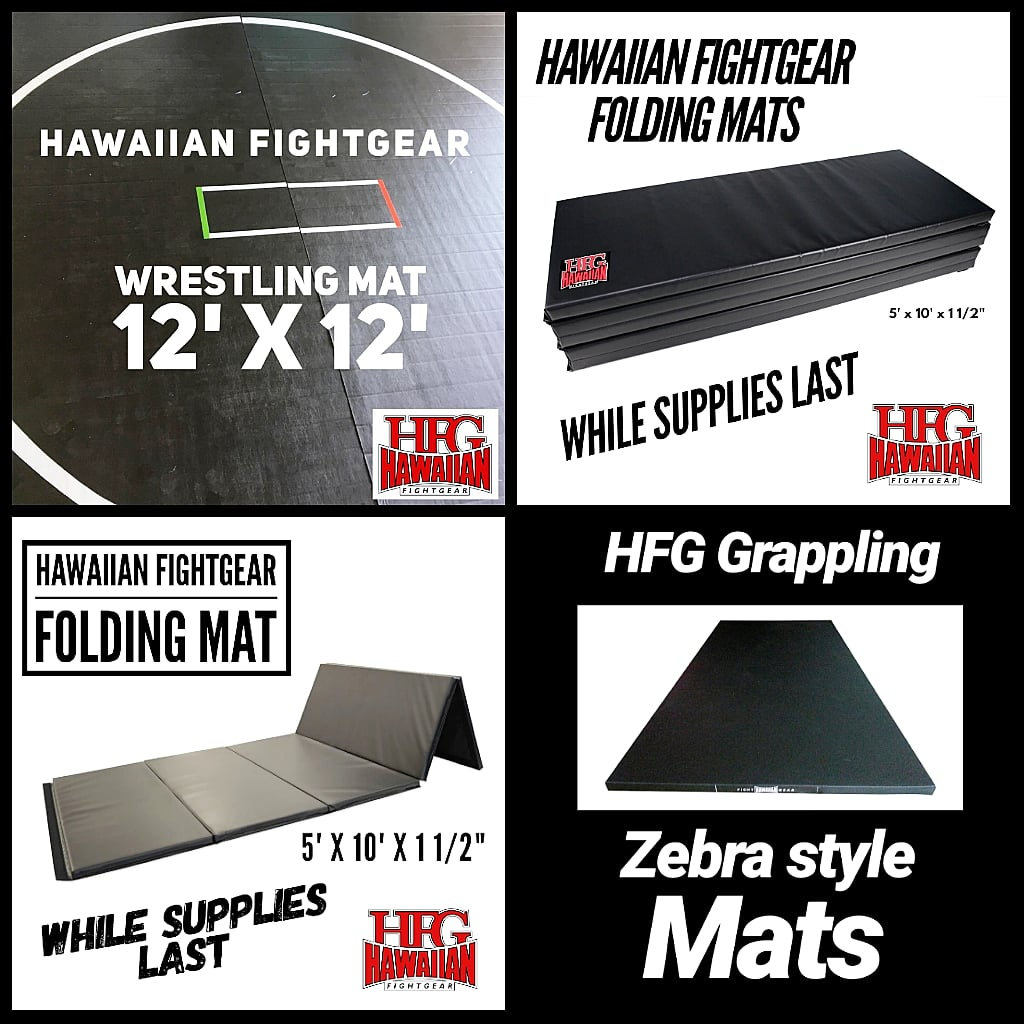 FOLDING, WRESTLING, GRAPPLING MATS IN STOCK NOW WHILE SUPPLIES LAST!