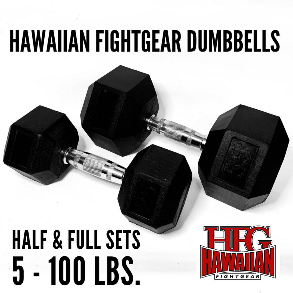 HFG DUMBBELLS HALF & FULL SETS IN STOCK...