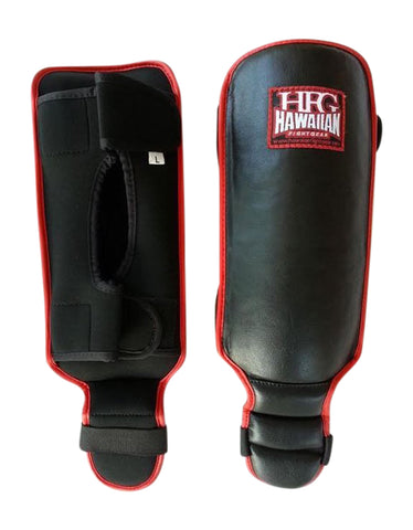 "Platinum II ""Youth"" Shin Guards-Blk/Red"