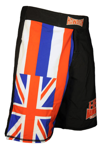 """Hawaiian Flag"" Fightshorts Blk."