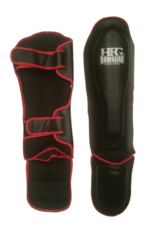 Muay Thai Shin Guard-Blk/Red