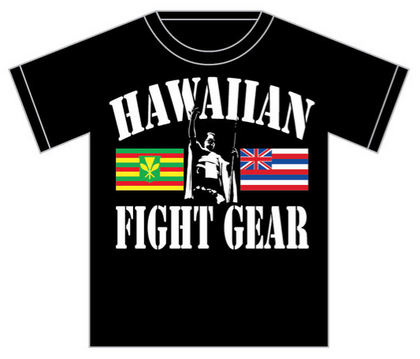 "HFG Hawaiian ""Twin Flag"" MMA T Shirt~Black"