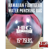 HFG Water Punching Bag- 15 in.~ 75 lbs.-Red Swirl