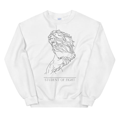 Fighting Lion - Pullover Weiß