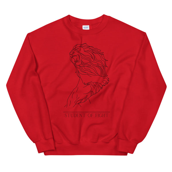 Fitghting Lion - Pullover Rot