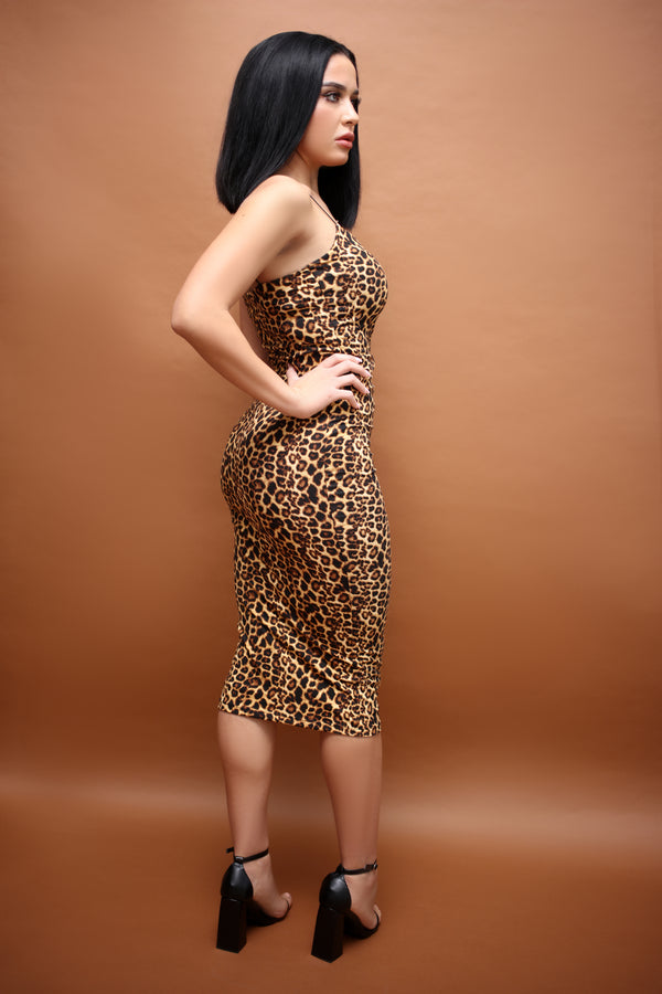 Leopard Vince Bodycon Dress