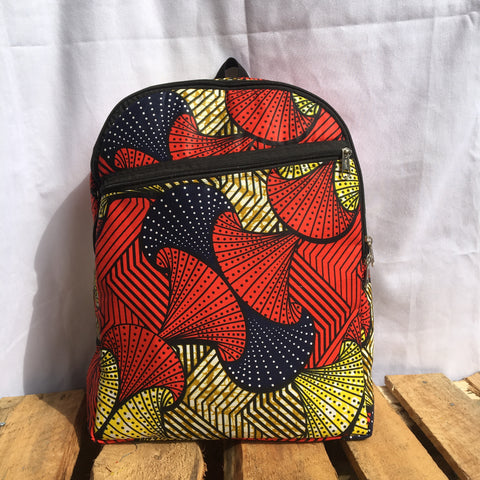 BACKPACKS, MEDIUM SIZE, AFRICAN WAX, SCHOOL BAG