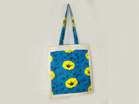 TOTE BAGS, AFRICAN WAX, SOFT CANVAS