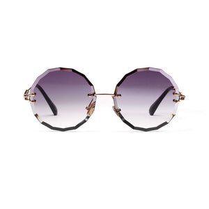 Round Rimless Sunglasses