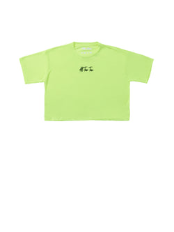 ATT Neon Crop Short Sleeved - Yellow/Black Logo