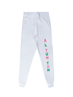 AL TUN TUN SWEAT PANTS - LETTERING