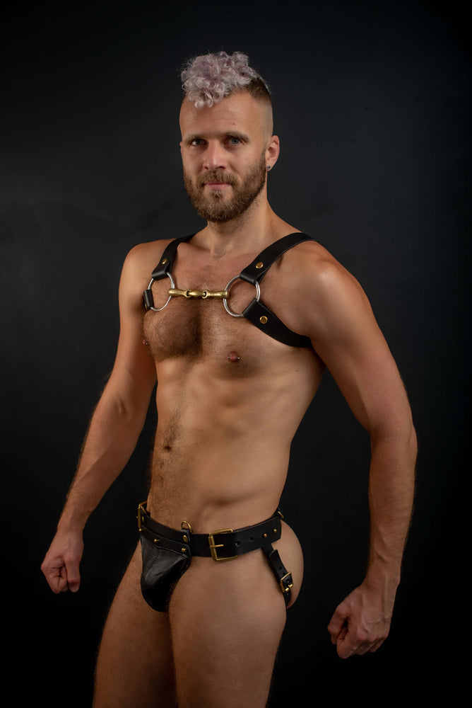 Load image into Gallery viewer, Stud | Leather Jockstrap
