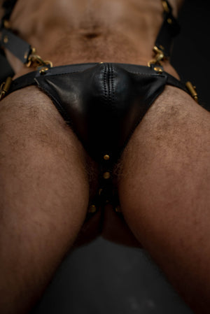 Load image into Gallery viewer, Body Harness and Gent Jock Bundle  | Leather