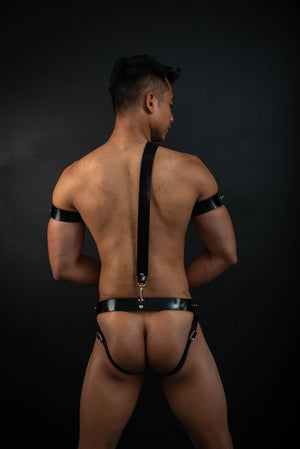 Load image into Gallery viewer, Gent Jockstrap, Sam Browne and Two Bicep Straps Bundle | Rubber