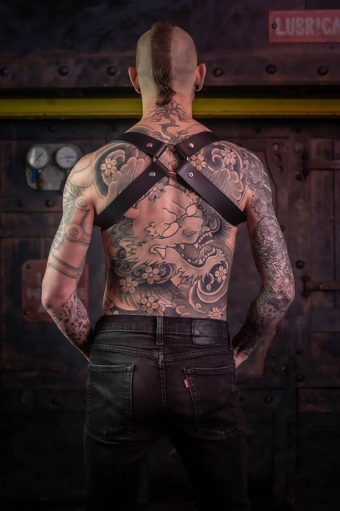 Load image into Gallery viewer, Cross | Leather Harness